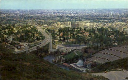 View from Mulholland Drive - Los Angeles, California CA Postcard