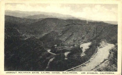 Lookout Mtn. Drive - Los Angeles, California CA Postcard