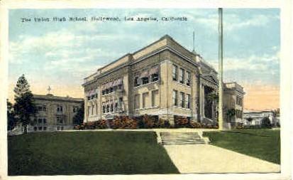 The Union High School - Los Angeles, California CA Postcard