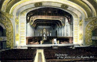 The Interior of the Auditorium - Los Angeles, California CA Postcard