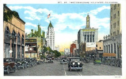 Hollywood Blvd. - California CA Postcard