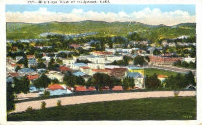 Birds Eye View  - Hollywood, California CA Postcard