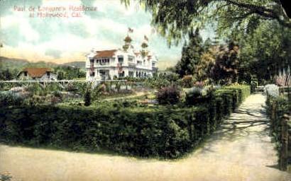 Paul de Longpres Residence - Hollywood, California CA Postcard