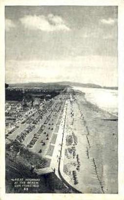 Great Highway at the Beach - San Francisco, California CA Postcard