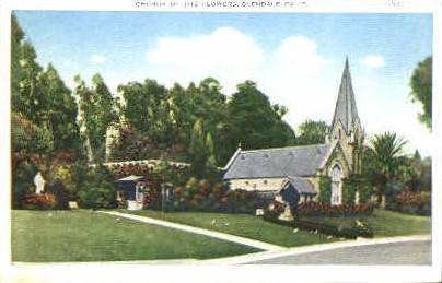 Church of the Flowers - Glendale, California CA Postcard