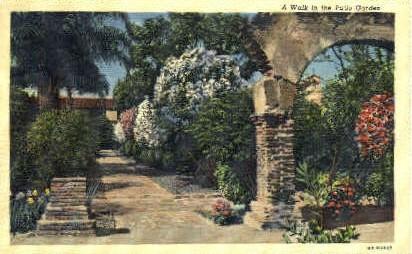 Mission San Juan Capistrano, San Diego - San Francisco, California CA Postcard