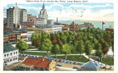 Across the Park - Long Beach, California CA Postcard