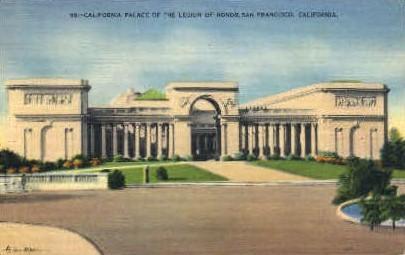 Palace of the Legion of Honor, Lincoln Park - San Francisco, California CA Postcard