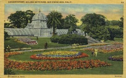 Conservatory, Golden Gate Park - San Francisco, California CA Postcard