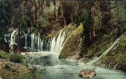 Mossbrae Falls - MIsc, California CA Postcard