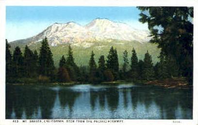 Mt. Shasta - MIsc, California CA Postcard