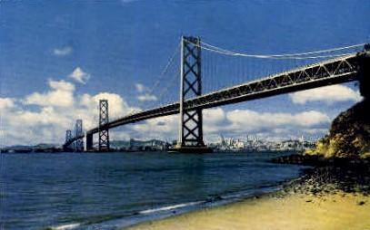 San Francisco Bay Bridge   - California CA Postcard
