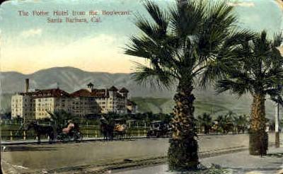 The Potter Hotel  - Santa Barbara, California CA Postcard