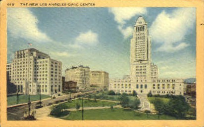 New Civic Center - Los Angeles, California CA Postcard