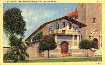 Mission Dolores - San Francisco, California CA Postcard