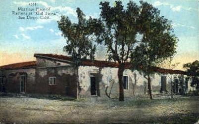 Marriage Place of Romona  - San Diego, California CA Postcard