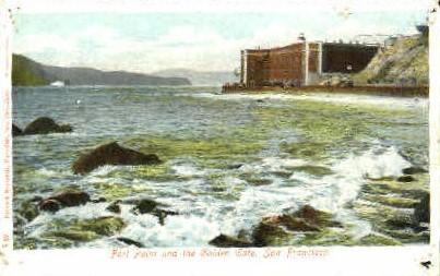 Fort Point & the Golden Gate - San Francisco, California CA Postcard