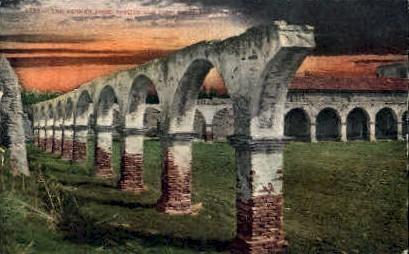 The Broken Arch, Mission San Juan, San Diego - San Francisco, California CA Postcard