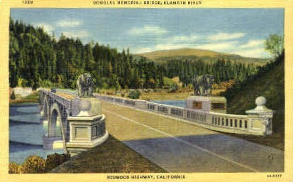 Douglas Memorial Bridge - MIsc, California CA Postcard