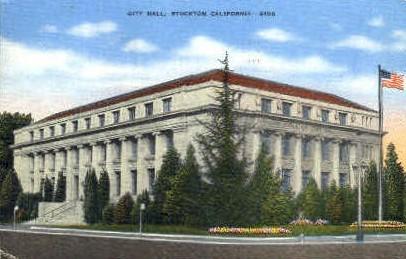 City Hall - Stockton, California CA Postcard