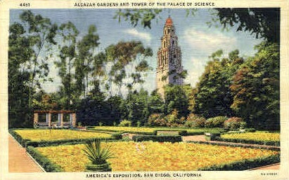 Tower of the Palace of Science - San Diego, California CA Postcard