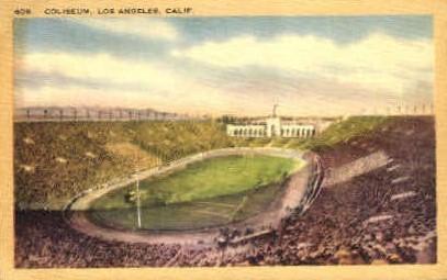 Coiseium - Los Angeles, California CA Postcard