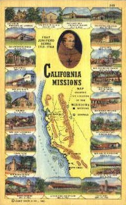 California Missions - MIsc Postcard