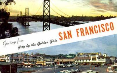 Greetings From - San Francisco, California CA Postcard