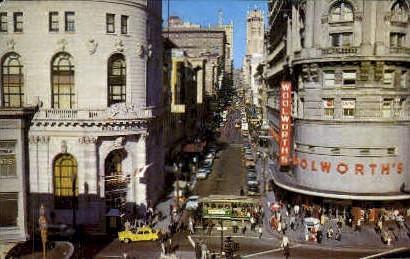 Cable Car - San Francisco, California CA Postcard