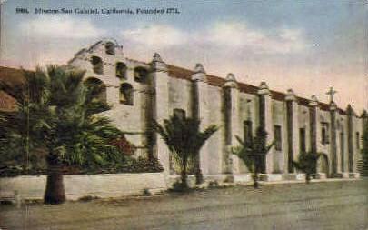 Mission San Gabriel - San Francisco, California CA Postcard