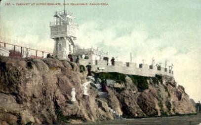 Parapet at Sutro Heights - San Francisco, California CA Postcard
