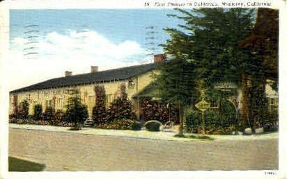 First Theater - Monterey, California CA Postcard