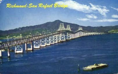 Richmond-San Rafael Bridge - San Francisco, California CA Postcard