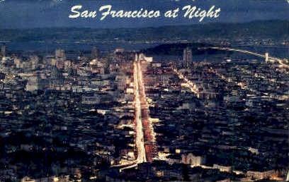 San Francisco, California, CA Postcard