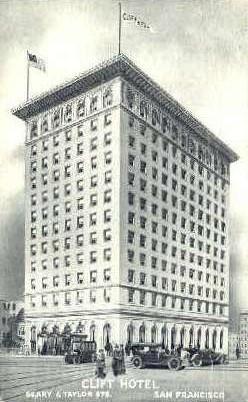 Clift Hotel - San Francisco, California CA Postcard