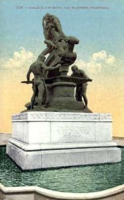 Donahue Monument - San Francisco, California CA Postcard