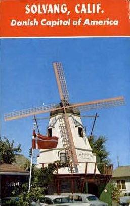 Danish Capital of America - Solvang, California CA Postcard