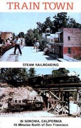 Train Town - San Francisco, California CA Postcard