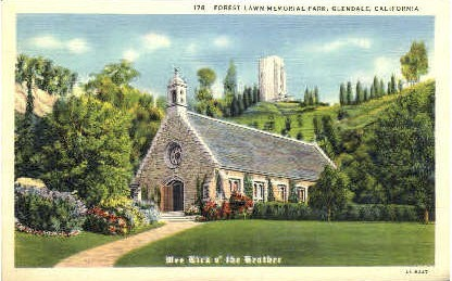 Wee Kirk o' the Heather - Glendale, California CA Postcard