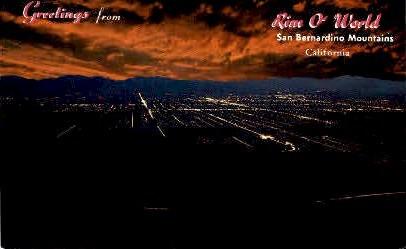 . - San Bernardino Mts., California CA Postcard