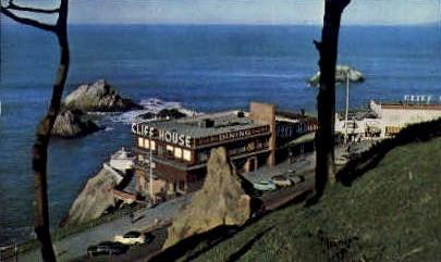 Cliff House & Seal Rocks - San Francisco, California CA Postcard