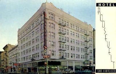 The Hotel Roosevelt - San Francisco, California CA Postcard