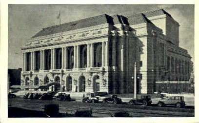 War Memorial Opera House - San Francisco, California CA Postcard