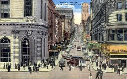 Market Street - San Francisco, California CA Postcard