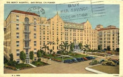 Mercy Hospital - San Diego, California CA Postcard