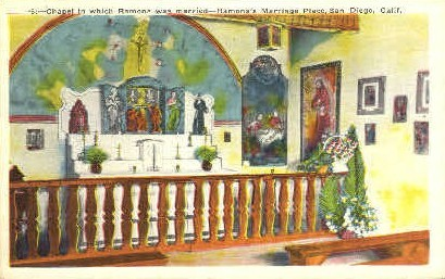 Ramona's Home - San Diego, California CA Postcard