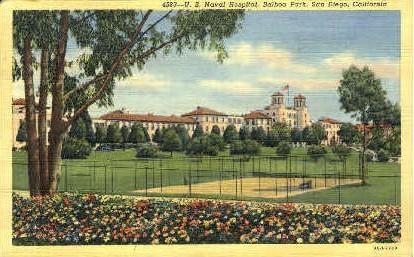 U.S. Naval Hospital, Balboa Park - San Diego, California CA Postcard