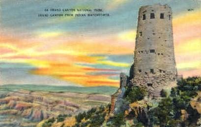Grand Canyon National Park - MIsc, California CA Postcard