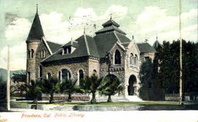 Public Library - Pasadena, California CA Postcard