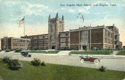 High School - Los Angeles, California CA Postcard